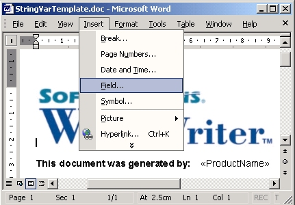 how to keep the insert menu open in word
